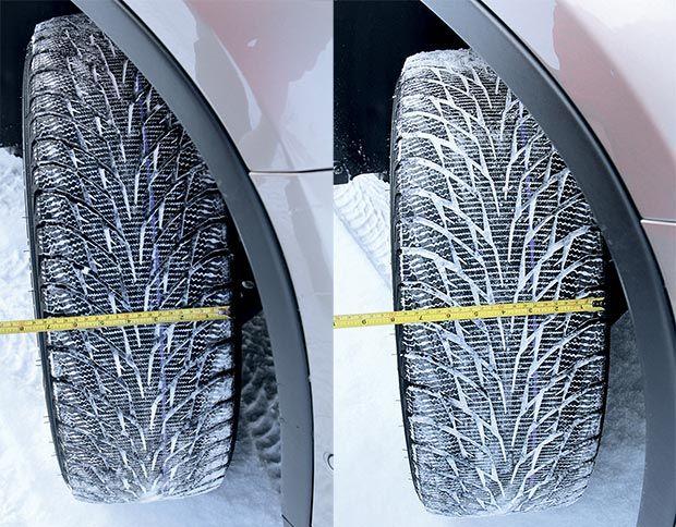 зимой лучше шины узкие или широкие