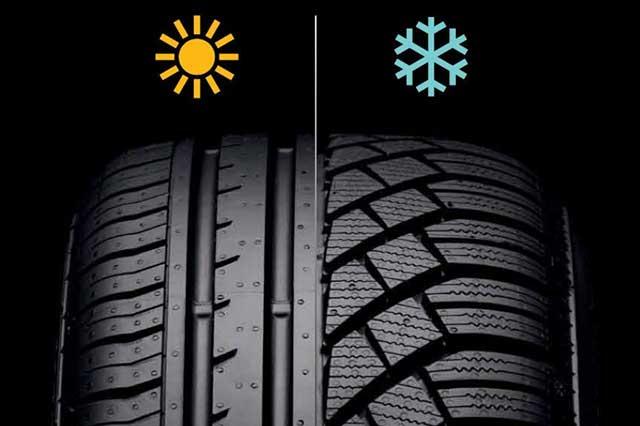 Отличия шин, зимняя, летняя, differences of tires