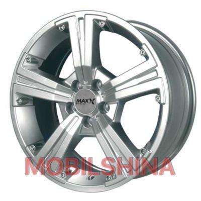 R13 5.5 4/100 67.1 ET20 Maxx Wheels M393 Silver литой