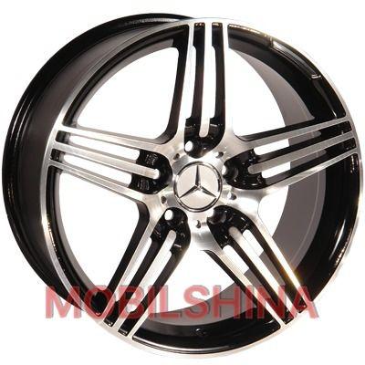R15 6.5 5/112 66.6 ET25 Replica Mercedes (D5012) Black литой