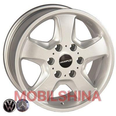 R16 7 6/130 84.1 ET50 Replica Mercedes (Z491) Silver литой