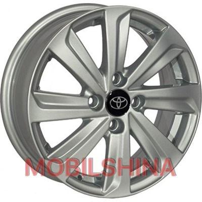 R15 5.5 4/100 54.1 ET45 Replica Toyota (BK736) Silver литой