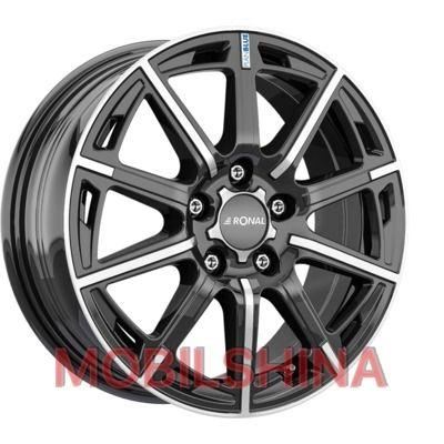 Диски R16 6.5 5/112 76 ET45 Ronal R60 Blue jet black front diamond cut литой