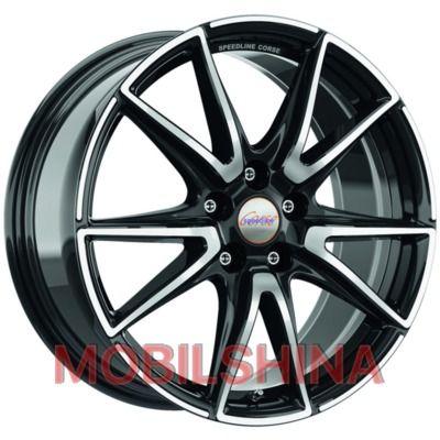 Диски R19 8.5 5/108 76 ET42 Speedline Vettore black front diamond cut литой