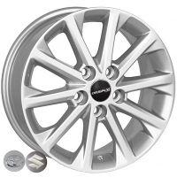 R16 6.5 5/114.3 60.1 ET40 ZW BK581 Silver литой