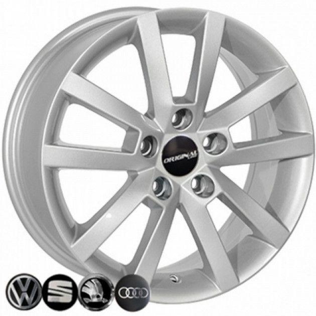 Диски R16 6.5 5/112 57.1 ET50 ZW BK711 Silver литой
